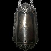 800 Silver Scotch Liquor Bottle Label Decanter Tag