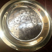 The Third Annual Franklin Mint Christmas Plate by Norman Rockwell 1972