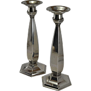 """Whiting Sterling Silver 9 1/4"""" Tall Candlesticks"""