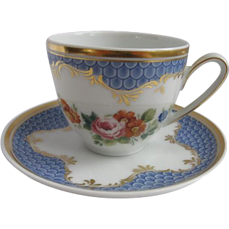 Hutschenreuther Germany Demitasse Cup and Saucer for Danbury Mint