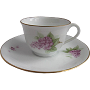 Okura Japan Demitasse Cup and Saucer for Danbury Mint