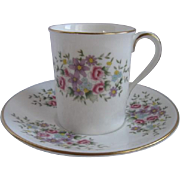 Royal Doulton England Demitasse Cup and Saucer for Danbury Mint