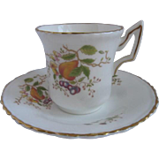 Coalport England Demitasse Cup and Saucer for Danbury Mint