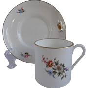 Royal Worcester England Demitasse Cup and Saucer for Danbury Mint
