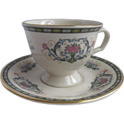 Pickard USA Demitasse Cup and Saucer for Danbury Mint