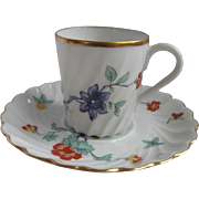 Haviland France Demitasse Cup and Saucer for Danbury MInt