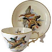 Hammersley England Bone China Mustache Cup and Saucer # 5537