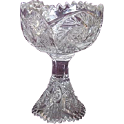 Imperial Nucut Footed Open Jam/Jelly Bowl Clear Glass