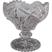 Imperial Glass Open Jam/Jelly Footed Bowl Clear