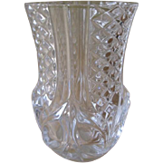 Vintage Cristal D'Arques France Royale Pattern Small Vase