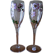 Vintage Perrier Jouet Champagne Flutes Belle Epoque Made in France