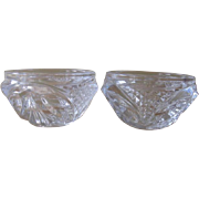 Cristal D'Arques France Royale Pattern Pair of Candleholders