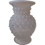 Fenton Hobnail French Opalescent Glass Miniature Cupped Vase