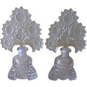 Irice USA Imperial Glass Perfume Bottles With Sunflowers Stoppers