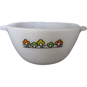 Vintage Fire King Summerfield Pattern Mixing Bowl With Tab Handles