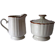 Mikasa Japan Country Classics Creamer and Sugar with Lid