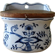 Vintage Blue Danube Japan Salt Box with Lid in Blue Onion Pattern