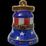 Vintage Limoges France Porcelain Bell Shaped Box Hand Painted