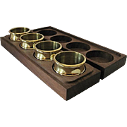 Baldwin Brass Napkin Rings in Wooden Box