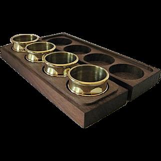 Baldwin Brass Napkin Rings in Wooden Box