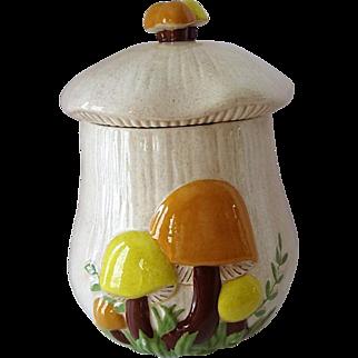 Vintage Arnels Ceramic Mushroom Canister