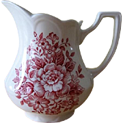J&G Meakin England Royal Staffordshire Avondale Pink Ironstone Creamer