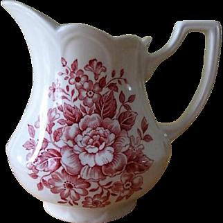 J&G Meakin England Royal Staffordshire Avondale Pink Ironstone Creamer
