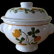 Vintage Varoslodi Hungary Majolica Covered Dish