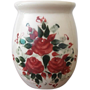 East Texas Pottery Jar Hand Painted Roses Pattern