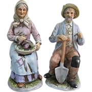 Homco Golden Years Bisque Figurines