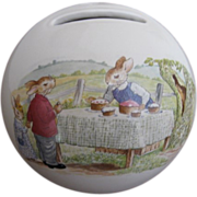 Royal Doulton Bunnykins Bank/Money Ball Cake Stall Pattern