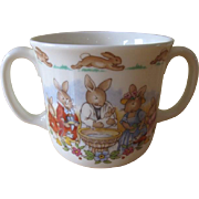 Royal Doulton Bunnykins Christening Two Handled Mug