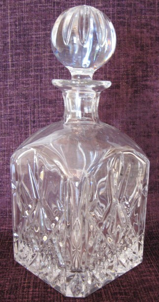 Vintage Towle crystal decanter made in Poland