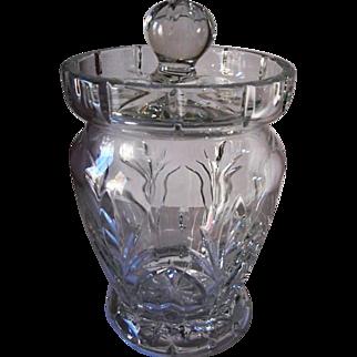 Waterford Crystal Biscuit Barrel Canterbury Pattern