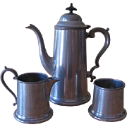 Vintage Craftsman Pewter Sheffield England Coffee set