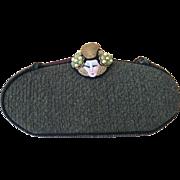 Vintage Irene Reed Green Clutch Purse with Geisha Head