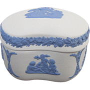 Wedgwood Jasperware Trinket Bean Box with Lid