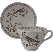 Wedgwood of Etruria & Barlaston Williamsburg Aviary Cup and Saucer