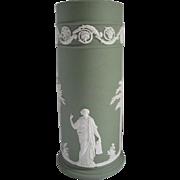 Wedgwood 1974 Jasperware Spill Vase Cream on Celadon