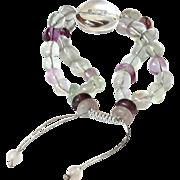 Fluorite and Clear Quartz Bracelet