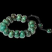 Reconstituted Turquoise Bracelet