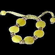 Olivine and Smoky Quartz Bracelet