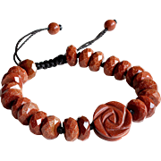 Glass Goldstone Bracelet