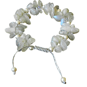 Moonstone and cultured Freshwater Pearls Bracelet