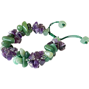 Amethyst and Green Aventurine Bracelet