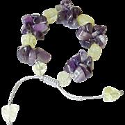Amethyst and Quartz Bracelet