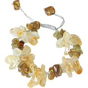 Citrine and Green Apatite Bracelet