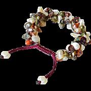 Elegant Bracelet with cultured Blister Freshwater Pearls