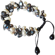 Pearl Bracelet with cultured Freshwater Blister Pearls