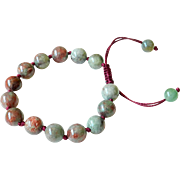 Green-Red Garnet Bracelet 1